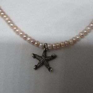 Jewelry - Pink Dyed Freshwater Pearl's & Sterling Necklace